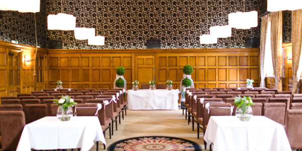 The wedding ceremony room at Cathedral Quarter Hotel in Derby